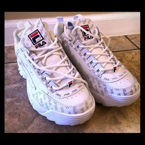 White Fila Sneakers
